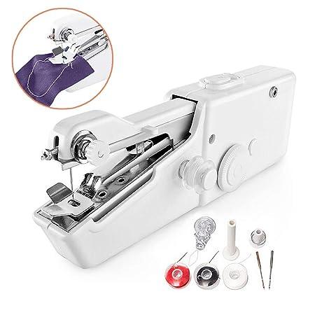 Surenhap Mini máquina de Coser, Máquina de Coser portátil Herramienta Manual portátil - Herramienta de Puntada rápida para Tela, Ropa o Tela para niños: ...
