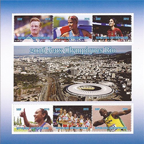 Central Africa - 2016 Rio Olympics - 6 Stamp Sheet - 3H-998