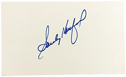 eea8c8c2b1c Sandy Koufax Brooklyn Dodgers Signed 3x5 Index Card PSA D25962 at ...