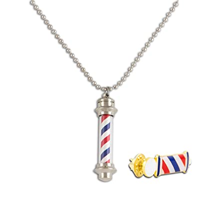 Amazon Md Barber Barber Pole Light Up Necklace Gift Set Home