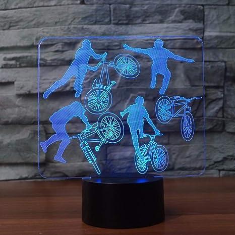 3D BMX Rider Night Light LED 7 colores que cambian de límite ...