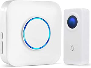 Wireless Doorbell System for Home - SKYPOINT Expandable Door Bells & Chimes Wireless System - Waterproof, Over 1000-Feet Range, 52 Door Chimes - 1 x Doorbell Button Receivers and 1 x Transmitters