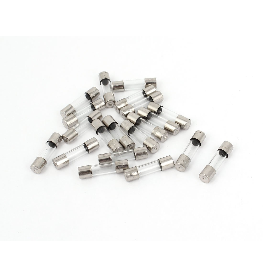 Sourcingmap 10 Pcs Fast Blow Type Glass Tube Fuses 5x20mm 250V 3.15A