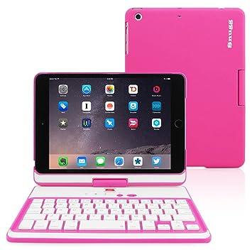Snugg Funda con Teclado para iPad Mini 4, Carcasa iPad Mini 4 Giratoria 360° con Teclado Bluetooth Y Garantía De por Vida para Apple iPad Mini 4