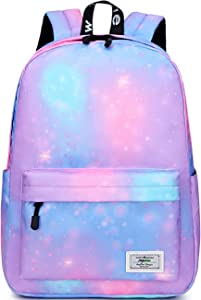Mygreen Galaxy Backpack for Girls, Boys, Kids, Teens by Mygreen, 14 inch Durable Book Bags for Elementary, Middle, Junior High School Students, A Gift That Gives Back Purple