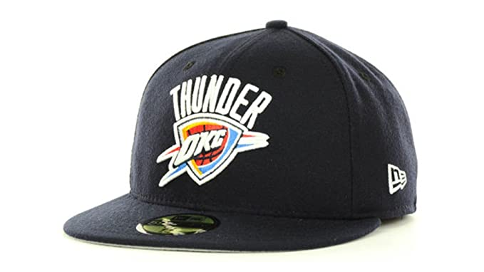 sports shoes b69e6 8daaa Oklahoma City Thunder Men s New Era 59Fifty NBA Basketball Fitted Navy Hat  Cap - 7 5