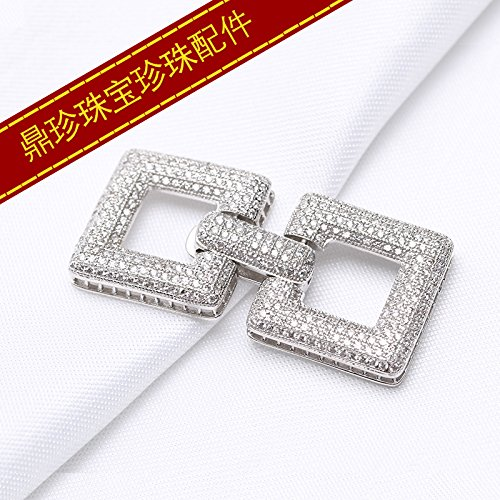 DIY Accessories Chain Necklace Pendant Sweater Buckle S925 Sterling Silver Gorgeous Models Multi-Row Pearl Necklace Pendant Fancy Buckle