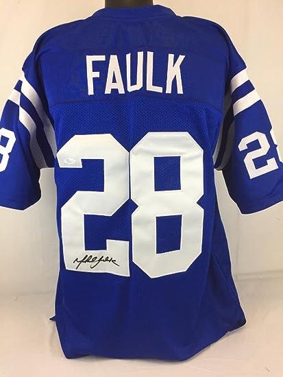 promo code 2cfbd 64233 Amazon.com: Marshall Faulk Signed Jersey Coa Baltimore Colts ...