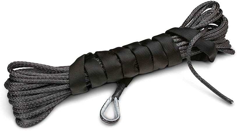 4X4 Vehicle Recovery 9,200 lb Strength Made AMSTEEL Blue Winch Rope 1//4 inch x 50 ft Gunmetal Grey BILLET4X4 U.S