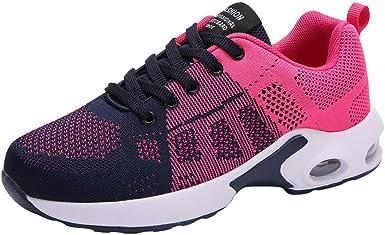 Zapatillas Running Mujer,YiYLunneo Malla Exterior Shoes Deportivas Informales Sneakers con Amortiguación de Aire con Suela Gruesa Zapato de Deporte: Amazon.es: Ropa y accesorios