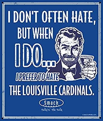 Kentucky Basketball Fans. I Prefer to Hate Louisville Basketball 12'' X 14'' Metal Fan Cave Sign