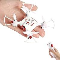 Syma X20-S Drones Mini para Niños 2.4GHz 4CH 6-Axis Cuadricópteros RC con Retención de Altitud, Modo sin Cabeza, Rotación de 360° y Luz LED