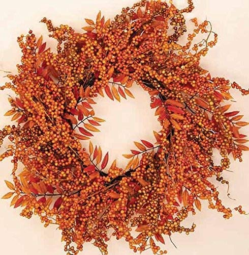 Worth Imports Fall Berry Fern Wreath, 18