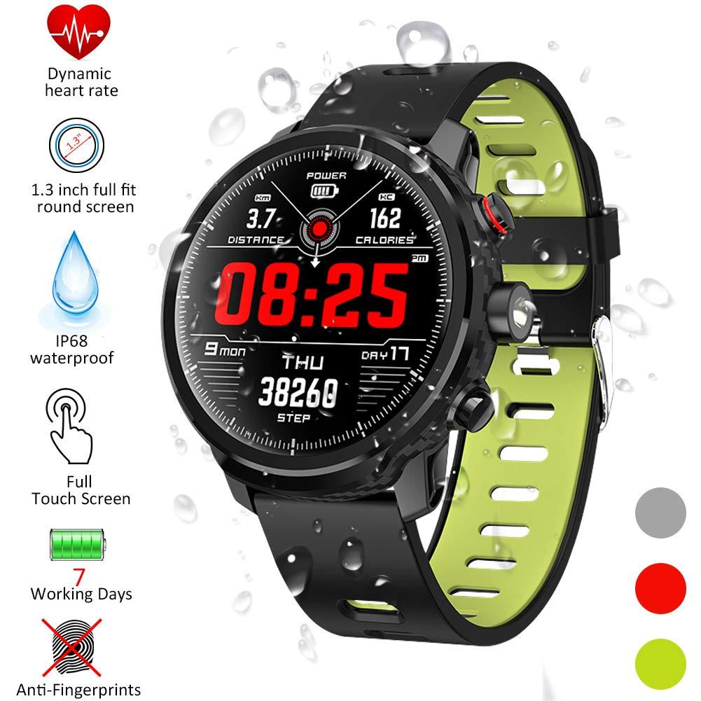 Smartwatch, Kivors Reloj Inteligente IP68 Impermeable Bluetooth SmartWatch con Múltiples Modos de Deportes, Fitness Tracker, Monitor de Dormir, ...