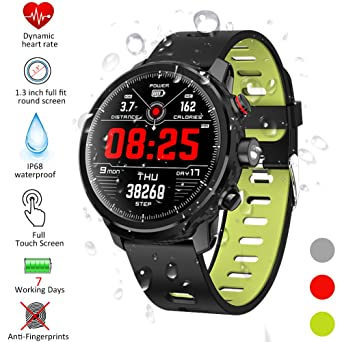 Qimaoo Montre Connectée Smartwatch Femmes Homme montre sport cardio IP68 Smart Watch L5 Tracker d