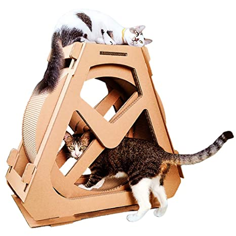 X&MX Cat Scratch Board Cat Rueda De Ejercicios Cat Tree ...