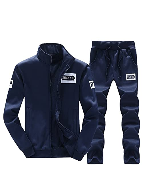 Hombres Casual Conjuntos Deportivos Chándal De 2 Piezas Vertical Cuello  Manga Larga Sweatshirt + Pantalón  Amazon.es  Ropa y accesorios 6139fae1a162f