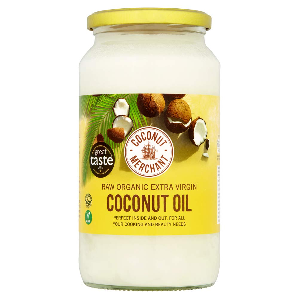 Coconut Merchant Organic Coconut Oil 35 Ounce | Extra Virgin, Raw, Cold Pressed, Unrefined | Ethically Sourced, Vegan, Ketogenic and 100% Natural | For Hair, Skin & Cooking (35 Oz / 1L)
