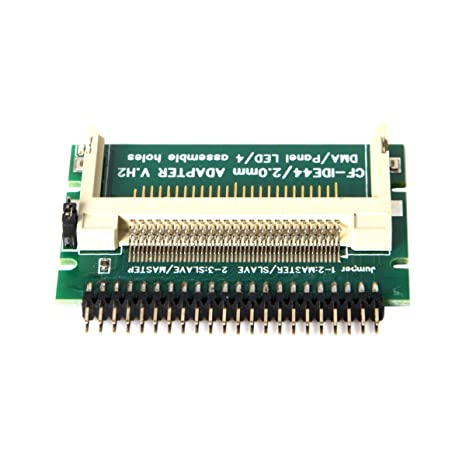 Cablecc CF - Tarjeta compacta de Memoria Flash (2,5, 44 Pines, Adaptador de Disco Duro IDE Macho a Disco Duro SSD)