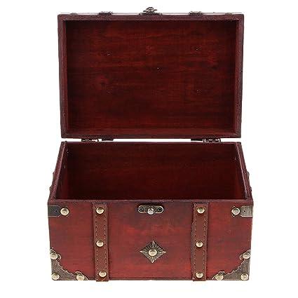 B Blesiya Caja de Almacenamiento de Joyería Antigua Estuche ...
