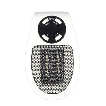 Fantasyworld Control Remoto 400W Mini Calentador de Aire Caliente del soplador eléctrico de Gran Alcance rápido