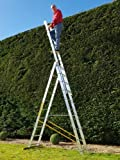 10 Rung Combi All-In-One Extension Ladder, Step Ladder & Free Standing Ladders