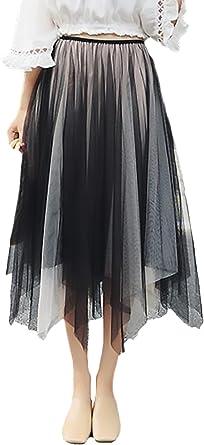 Falda Tul Mujer Elegantes Dulce Bonita Irregular Asimétrico ...