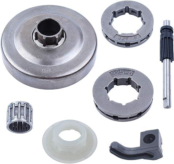 "Chainsaw Clutch Drum .325/"" 7T Gear Kit For HUSQVARNA 340 345 350 445 450 Parts"