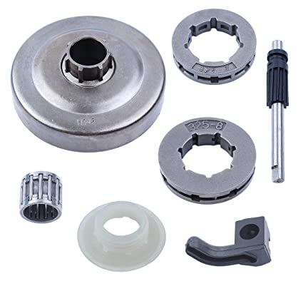 Image Unavailable. Image not available for. Color  Haishine .325 quot   Clutch Drum Sprocket Oil Pump Worm Gear Fit Husqvarna 340 345 346XP e4a0bf431