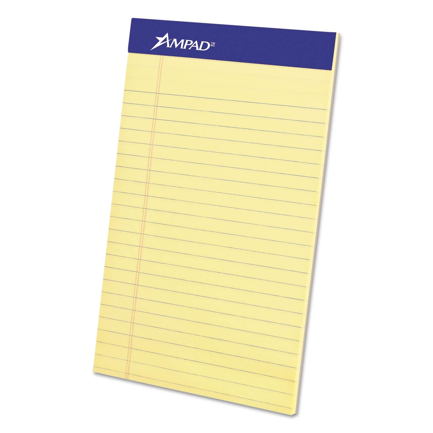 Ampad Perforated Writing Pad, Narrow, 5 x 8, Canary, 50 Sheets, Dozen - 20-204 (Pack of 2)