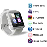 Yuntab U8 1.48 pollici Touch Screen Smart Watch Polso Orologio Bluetooth Mate Telefono Per iOS di iPhone 6plus /6/5 s / 5C / 5 / 4S / 4 Android di Samsung Galaxy 4 / Note 3 / Note 2 / S5 / S4 / S3 HTC BlackBerry LG Sony (bianco)