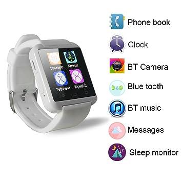 Yuntab móvil U8 Reloje SmartWatch Bluetooth 3.0 Muñequera de Silicona para Apple iOS iPhone teléfono Inteligente 4 / 4S / 5 / 5C / 5S / 6 Android ...