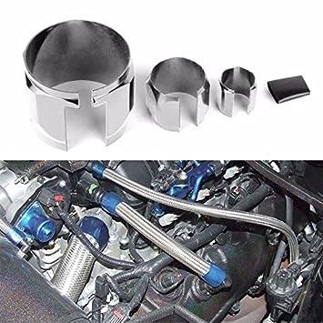 Blue Universal Stainless Steel Braided Hose Dress Up Kit Oil//Fuel//Vacuum//Radiator//Heater