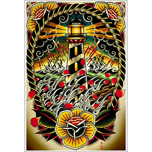 Last Port by Tyler Bredeweg American Traditional Tattoo Art Print for Framing