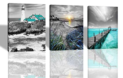 Painting & Calligraphy Free Shipping Mediterranean Beach Chairs Oil Painting Canvas Prints Seascape Oil Painting On Canvas Decoration Picture Crazy Price