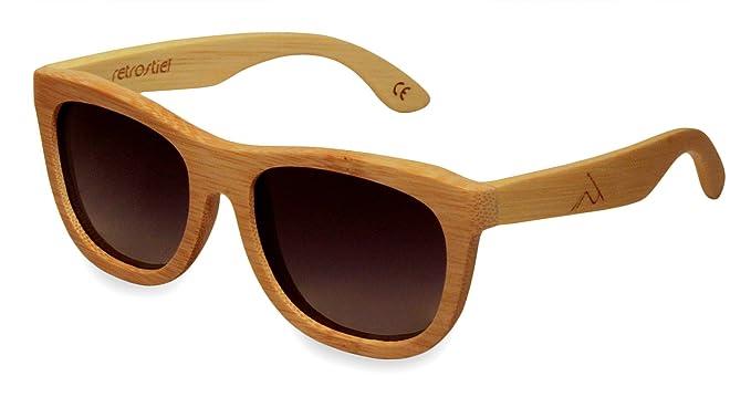 Gafas de sol de madera bambú Overseer: Amazon.es: Ropa y ...