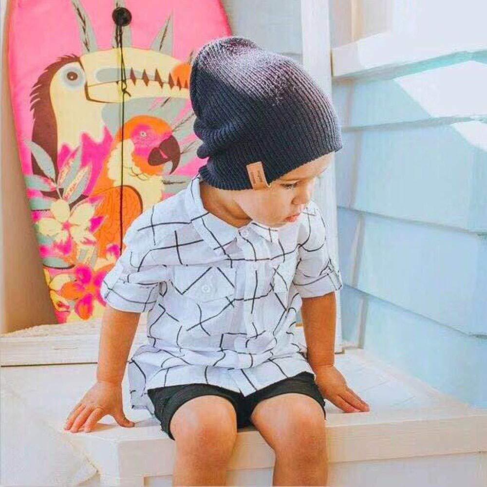 Sillor Eltern-Kind-M/ütze Damen-Kind Winter Warme Bequem Ohrensch/ützer Kopfbedeckung Solide Beanie Cap Strickm/ütze Wollm/ütze