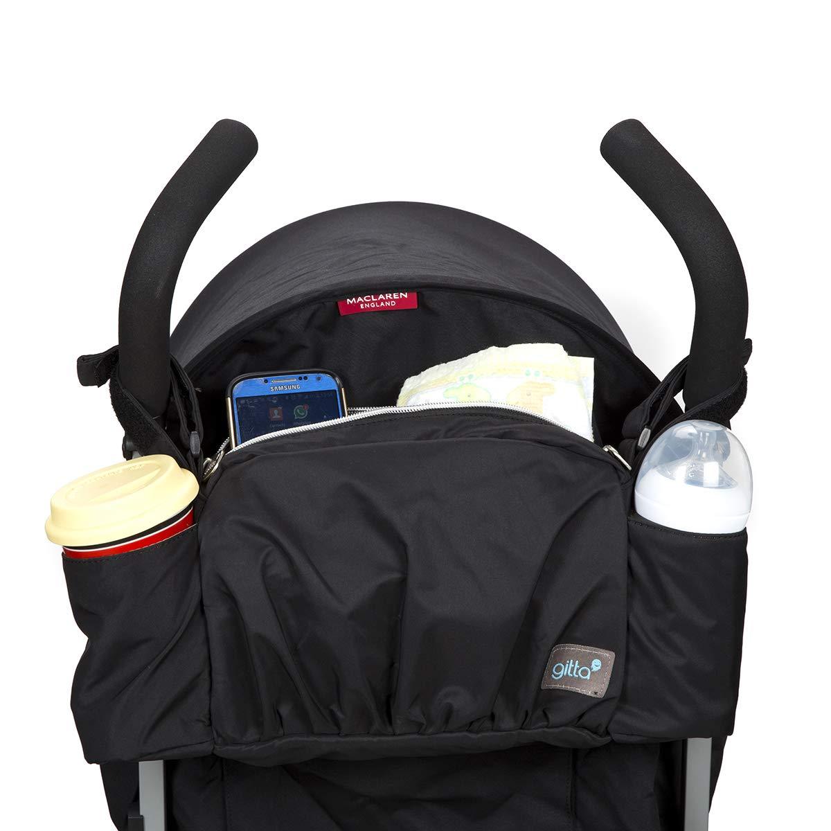 Gitta On The Go Baby Stroller Organizer Storage Holder Bag Bucket, Black by Gittabags (Image #4)