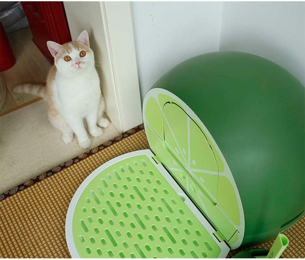 SWQG-Sartén Cajon Forma De Fruta Caja De Arena para Gatos Pala para Gatos De Cortesía Baño para Gatos De Dos Vías ARENERO-Fácil de Limpiar (Color : Green): Amazon.es: Hogar