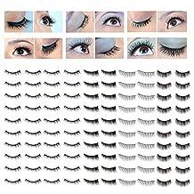 Fabulous Make Up Artists Set of 50 Pairs Best Quality Handmade False Eyelashes / Fake Eyes Lashes In 4 Different Styles By VAGA