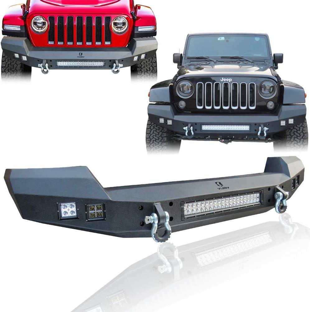 VJ Front Bumper for 2007-2021 Wrangler JK/JKU/JL and 2020-2021 Jeep Gladiator JT Truck