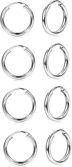 20 Petites d anneaux en argent platinés