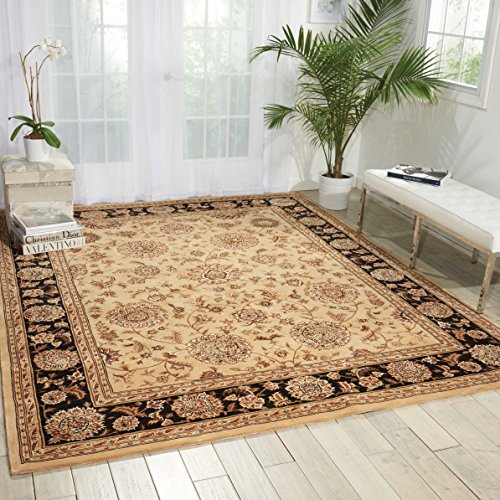 Nourison 2000 (2207) Beige Rectangle Area Rug, 7-Feet 9-Inches by 9-Feet 9-Inches (7'9