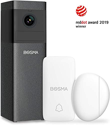 Bosma X1 1080p HD Home Security Camera, with 2-Way Audio, Color Night Vision, Siren Alarm, Advanced Motion Detection, Sound Alerts, Remote Monitoring