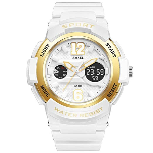 Kxaito Ladies Watch Led Waterproof Rose Gold White Women