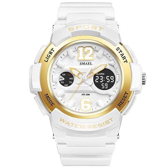 kxaito Ladies impermeable rosa oro blanco Mujeres Reloj Cuarzo Reloj Pulsera deportes moda niñas relojes: KXAITO: Amazon.es: Relojes