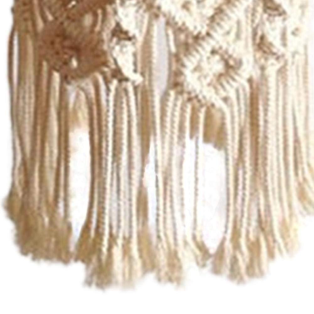 Tricot/és Main Tapisserie D/écoration Int/érieure Pendentif Plafonnier Ombre Fait /À La Main Macram/é Abat Tasseled Lustre Boho Hanging De Mariage