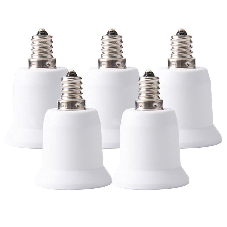 YiLighting - E12 Candelabra Screw to E26/E27 Standard Medium Edison Screw Base Socket Reducer Adapter Converter (E12 to E26/E27 Adapter)For LED CFL Lamp Light Bulb ONLY (20)