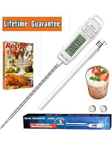 Termómetro Cocina Sonda Cocina Termómetro Digital de Cocina Termómetro de Carne, WELL BUY Termómetro de
