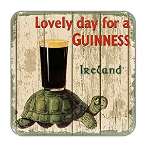 Nostalgic Guinness Epoxy Magnet With Tortoise And Pint Guinness